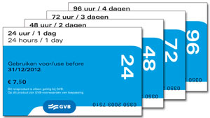 GVB public transport chip day cards